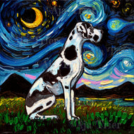 Harlequin Great Dane Night Canvas Print