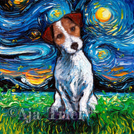 Jack Russell Terrier Night Canvas Print