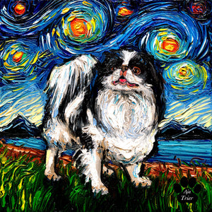 Japanese Chin Night Canvas Print