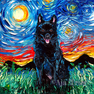 Schipperke Night Canvas Print