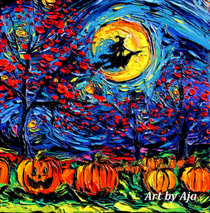 Starry Halloween Canvas Print