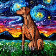 Vizsla Night Canvas Print