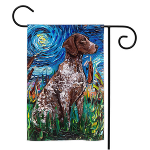 German Pointer Night Yard Flags
