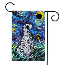 Load image into Gallery viewer, Dalmatian Night Yard Flags