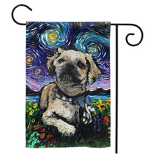 Load image into Gallery viewer, Shih Tzu Night, with flowers, Yard Flags