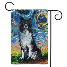 Load image into Gallery viewer, Border Collie Night Yard Flags