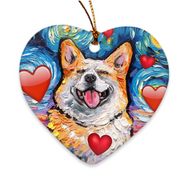 Corgi Love Ornament