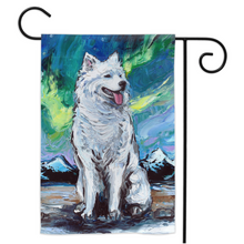 Load image into Gallery viewer, Samoyed Night Yard Flags