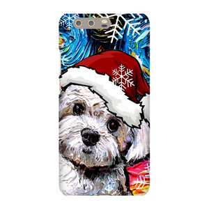 Maltipoo in Santa hat Phone Cases
