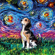 Beagle Night Canvas Print