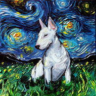 Bull Terrier Night Canvas Print
