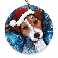 Jack Russell Terrier Night Ornament
