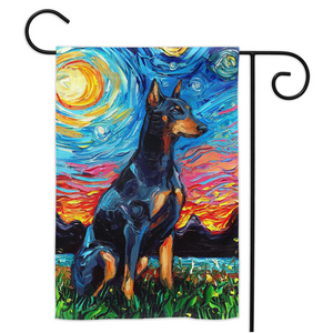Doberman Night Yard Flags