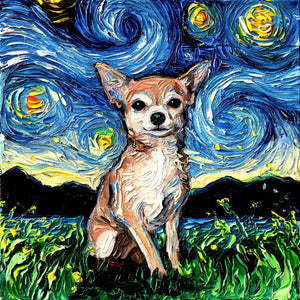 Chihuahua Night Canvas Print