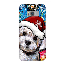 Load image into Gallery viewer, Maltipoo in Santa hat Phone Cases