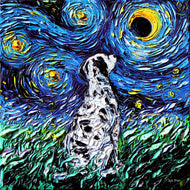 Dalmatian Night Canvas Print