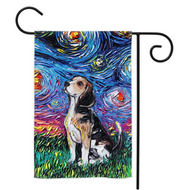 Beagle Night Yard Flags