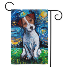 Load image into Gallery viewer, Jack Russell Terrier Night Yard Flags