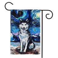 Husky Night Yard Flags