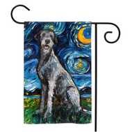Wolfhound Night Yard Flags