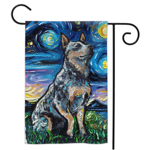 Blue Heeler Night Yard Flags