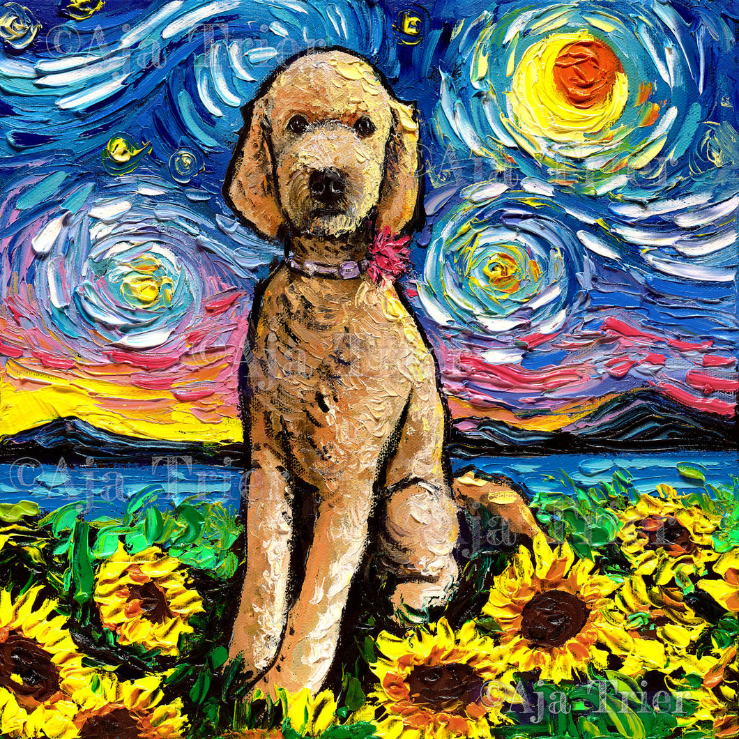 Goldendoodle Night 2 Canvas Print