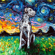 Merle Great Dane Night Canvas Print