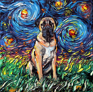 Mastiff Night Canvas Print