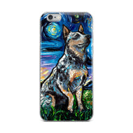 Blue Heeler Night iPhone Case