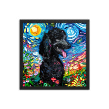 Load image into Gallery viewer, Poodle Night, Black 2, Framed Print