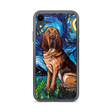 Load image into Gallery viewer, Bloodhound Night iPhone Case