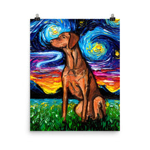 Load image into Gallery viewer, Vizsla Night Matte Poster Print