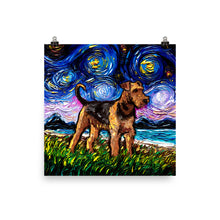Load image into Gallery viewer, Airedale Terrier Matte Poster Print