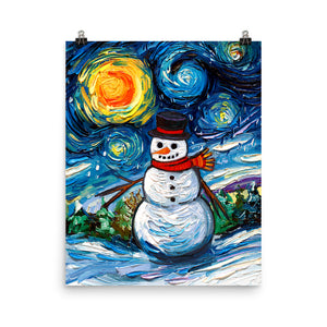 Frosty Night Matte Print