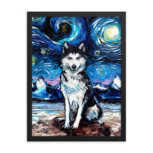 Load image into Gallery viewer, Husky Night Framed Print