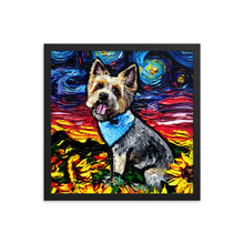 Load image into Gallery viewer, Silky Terrier Night Framed Print