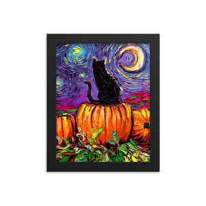 Starry Hallow's Eve Framed Print