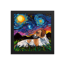 Load image into Gallery viewer, Beagle Mix Night Framed Photo Paper Poster