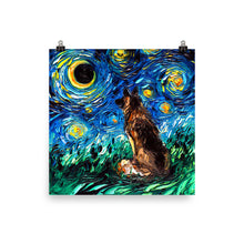 Load image into Gallery viewer, German Shepherd Night Matte Poster Print