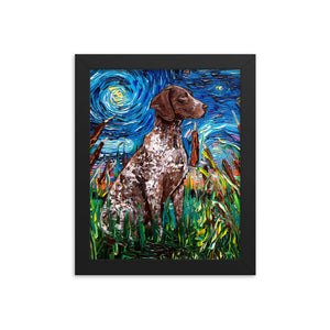 German Pointer Night Framed Print