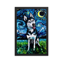 Load image into Gallery viewer, Happy Husky Night Framed Print