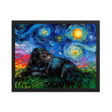 Load image into Gallery viewer, Black Labrador Night 5 Framed Print