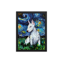 Load image into Gallery viewer, Bull Terrier Night Framed Photo Paper Poster