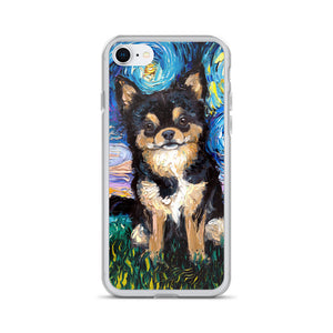Chihuahua Night, Black and Tan iPhone Case