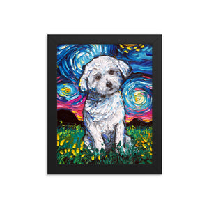 Maltese Starry Night Framed Print