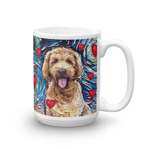 Goldendoodle Night Valentine Mug