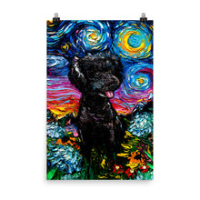 Load image into Gallery viewer, Poodle Night, Black 3, Matte Poster Print