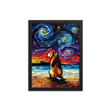 Load image into Gallery viewer, Beagle Night 2 Framed Photo Paper Poster