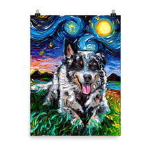 Load image into Gallery viewer, Australian Cattle Dog Matte Poster Print