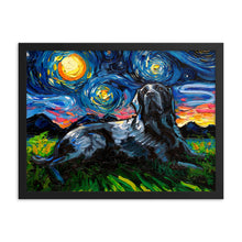 Load image into Gallery viewer, Labrador Night, Black 3 Framed Print